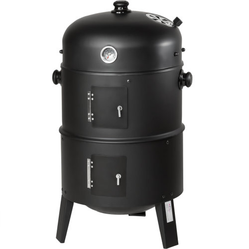 BBQ smoker barrel 3-in-1  - black