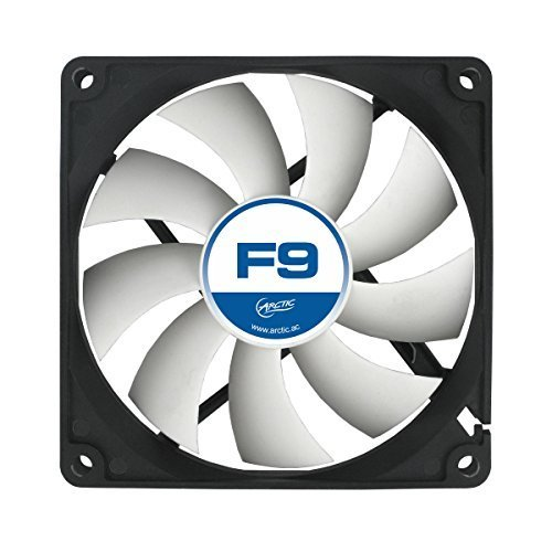 ARCTIC F9 92 mm Standard Case Fan Ultra Low Noise Cooler Silent Cooler with Standard Case Push or Pull Configuration possible