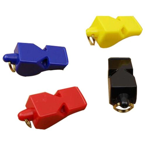 Set Of 4 Plastic Whistle Sports Whistle Referee Whistle Random Color