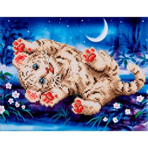 Diamond Dotz Diamond Embroidery Facet Art Kit - Baby Tiger Roly Poly