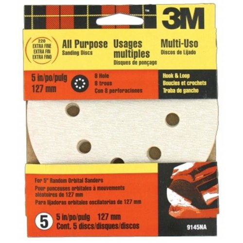 3m 5 Pack 5in. Extra Fine Quick Change Discs for Dustless Sanders 9145NA