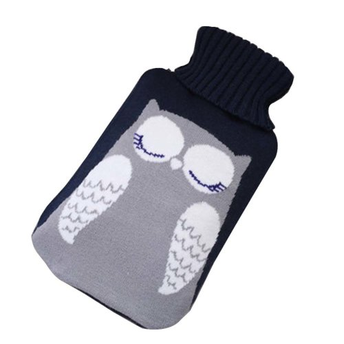[Blue-3] Big Hot Water Bottle Cute Hot Water Bag Hot Water Bottle With Cover