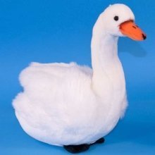 Dowman White Swan Soft Toy 30cm