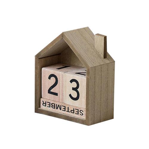 Wooden Permanent Calendar Creative Calendar Decoration For Home / Office -A8