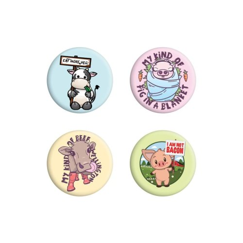 Grindstore Eat More Veg Badge Pack