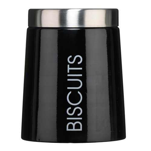 Premier Housewares Conical Biscuit Canister - Black
