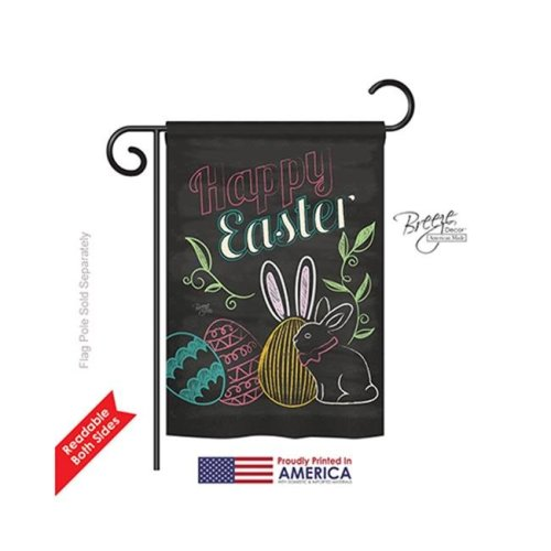 Breeze Decor 53054 Easter Colorful Easter Eggs 2-Sided Impression Garden Flag - 13 x 18.5 in.