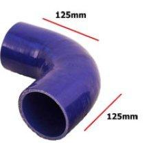 80mm Blue Internal 90 Degree Universal Silicone Hosing - Pipe 4 Ply Inside - Blue 90 Degree Universal Blue Silicone Hosing Pipe 4 Ply Inside Diameter