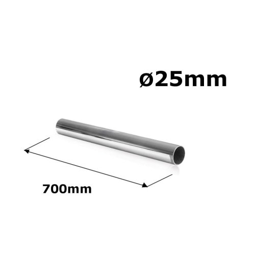 WARDROBE ROUND RAIL POLE TUBE CHROME HANGING RAIL 25MM x 700MM