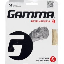 Gamma Revelation 16G Tennis String, Natural