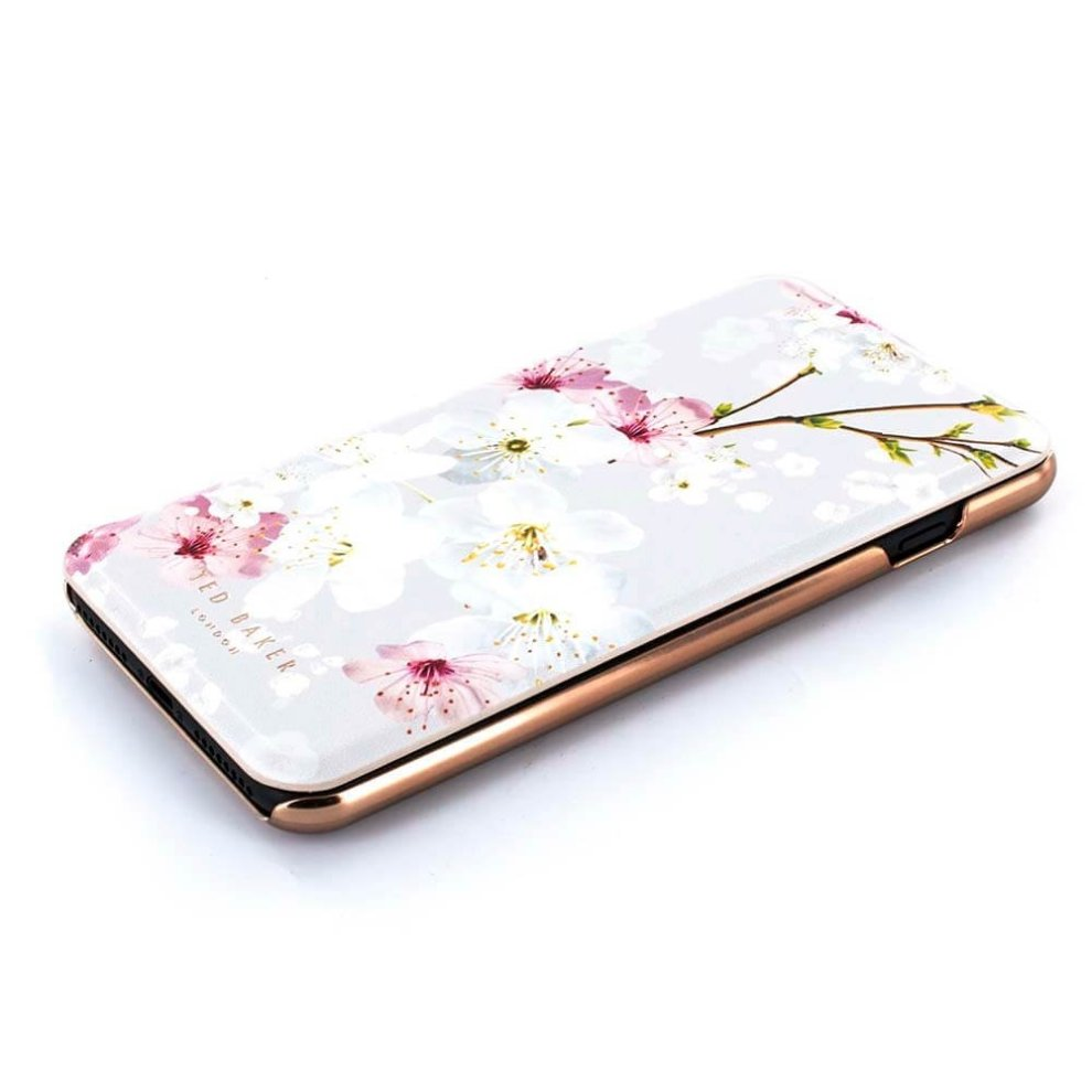best service 76b24 b9812 Ted Baker Official SS17 Fashion Mirror Folio Case for iPhone 8 Plus / 7  Plus, Protective Wallet iPhone 8 Plus / 7 Plus Cover for Professional  Women...