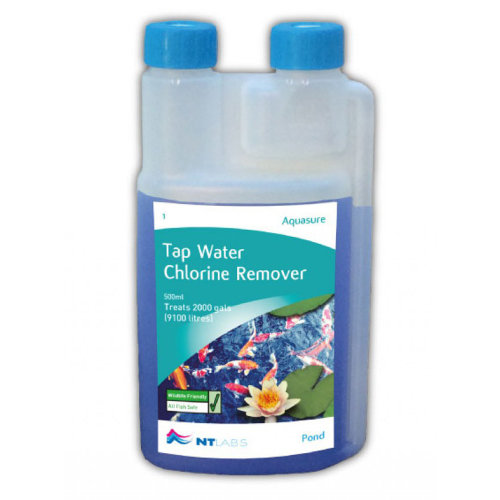 NT Labs Pond Aid Aquasure Tap Water Chlorine Remover 500ml