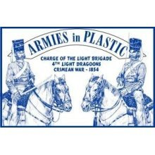 Crimean War 1854 4th Light Dragoons Charge of the Light Brigade (5 Mounted) 1/32 Armies in Plastic
