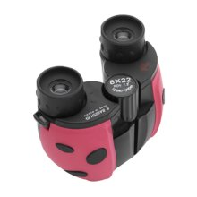 Children Beetle Telescope Binocular Mini Portable Telescope Toys Pink