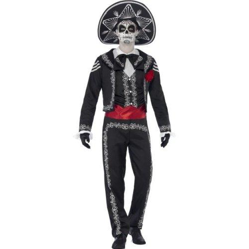Day of the Dead Senor Bones Skeleton Costume (Extra Large) | Halloween