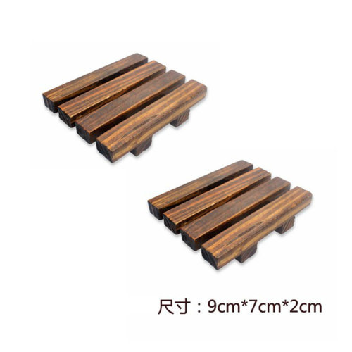 Set of 2 Handmade Natural Wood Soap Dish/Soap Holder(NO.009)