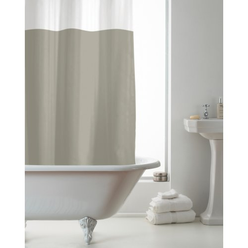 Country Club PEVA Shower Curtain, Natural and Clear