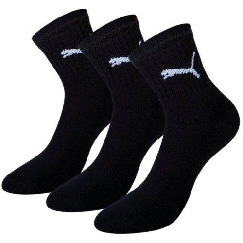 Uk 6-8 Black Pack Of 3 Puma Short Crew Socks - Pairs Shorts Mens Sports Tennis -  socks puma crew 3 black short pairs shorts pack mens sports tennis