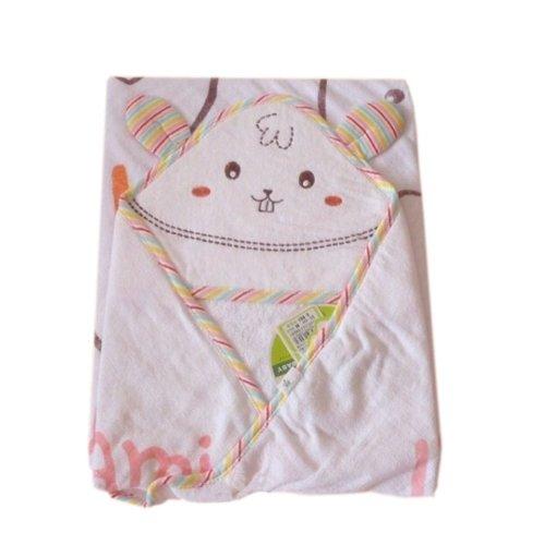 Lovely Cartoon Series Soft Baby Hooded Bath Towel, Pink Rabbit (110*110CM)