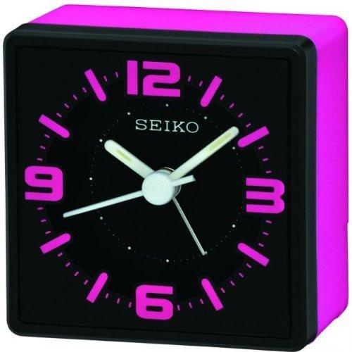 Seiko Analogue Bedside Alarm Clock - Pink (QHE091P)