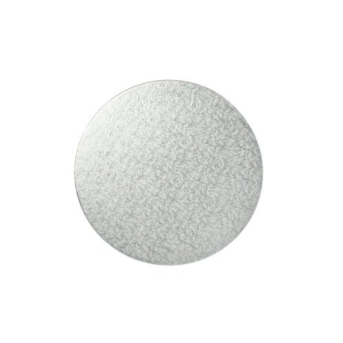 "14"" Thin Silver Round Cake Board 3mm Thick"