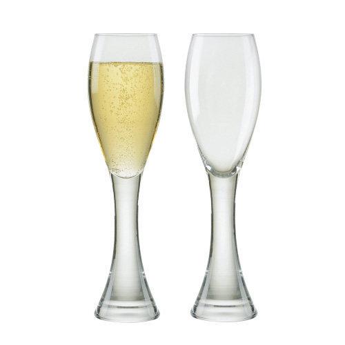 Manhattan Champagne Flutes, Set of 2, Transparent