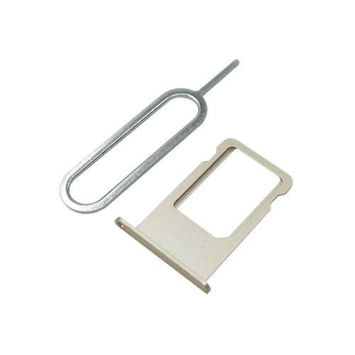 Cemobile SIM Card Tray Slot Holder Replacement for iPhone 6 Plus 5.5 Inch + SIM Card Tray Open Eject Pin (Gold)