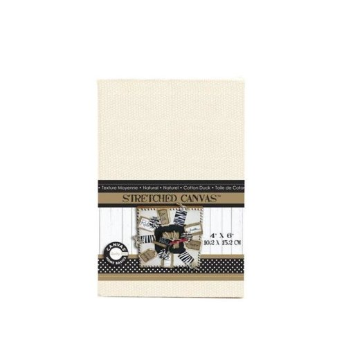 Canvas CVS1128 4 x 6 in. Stretched Natural Canvas