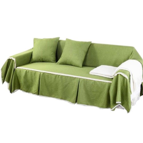 3 Seat Sofa Slipcover Elegant Couch Cover Furniture Protector #19
