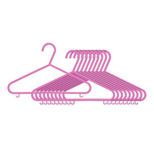 Children's Hangers - Set of 10, Pink