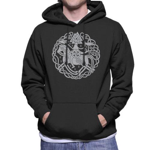 Odin Norse Viking Symbols Men's Hooded Sweatshirt