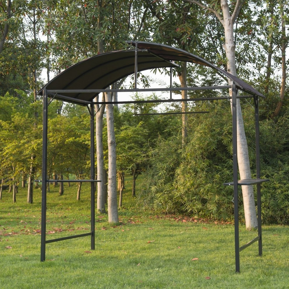 Outsunny Metal Gazebo Garden Patio Grill Canopy Awning Shelter 1