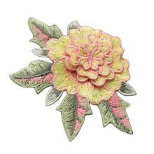 3 Pieces Sew on Patches Embroidery Applique Cloth Appliques Patches 3D Flower