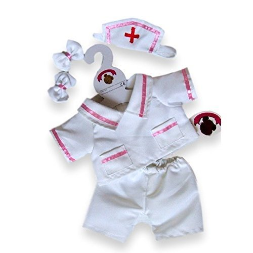 Build Your Bears Wardrobe 15-Inch Clothes Fit Build Bear Nurse Beauty  Therpit Costume