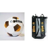 Gorilla Training BUNDLE - Size 4 Training Footballs + 10 Ball Carrier