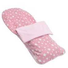 Snuggle Summer Footmuff Compatible With Mothercare Twin Vesta - Light Pink Star