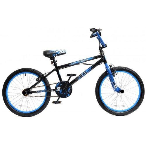"Zombie Outbreak Boys Kids Freestyle BMX Bike 20"" Wheel Giro 360 Stunt Pegs Blue"