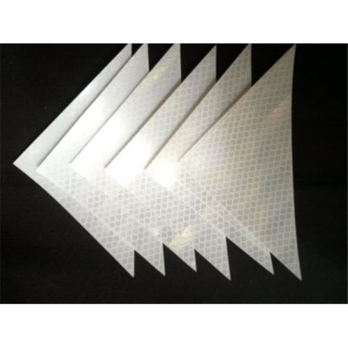 Ameri-Viz N-RT0406 White Vehicle & Building Reflective Triangles Self Adhesive Backing - Pack of 6