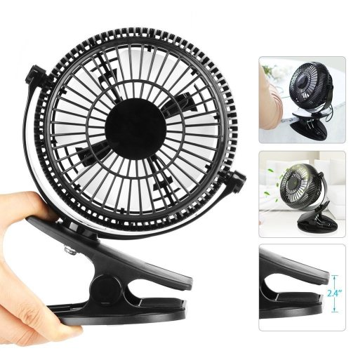 HAUEA Portable Mini USB Table Cooling Fan Silent Personal Desktop Fan with Clip for Office Home Bedroom Powered by Laptop Computer