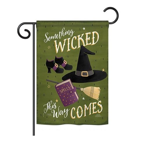 Breeze Decor BD-HO-G-112082-IP-BO-DS02-US 13 x 18.5 in. Seasonal Halloween Impressions Decorative Vertical Garden Flag - Something Wicked Fall