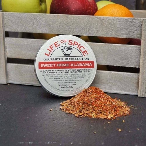 Sweet Home Alabama - Life of Spice Gourmet Barbecue Rub (30g) - Garlic, Smoked Paprika and Ancho Chilli