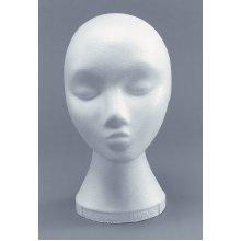 Female Polystyrene Head Wig Display -  female polystyrene head wig fancy dress accessory POLYSTYRENE HEAD FEMALE DISPLAY MANAKIN WIG HAT SHOP
