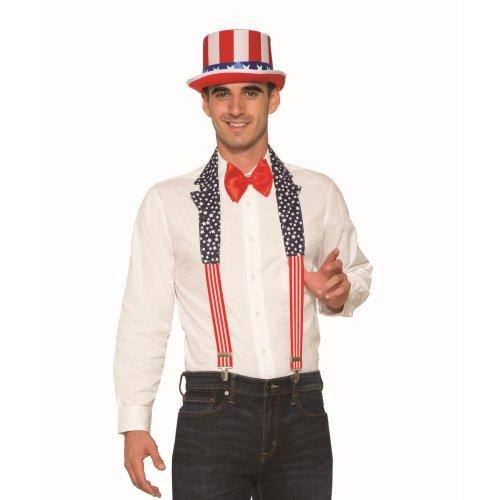 USA Patriotic Collar + Braces Set