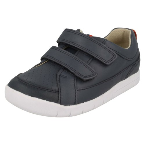 Boys Clarks Casual Hook & Loop Fastening Shoes Emery Walk T - F Fit