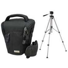 Camera Bag Camera Holster Stone XL with Travel Tripod and Tripod Case