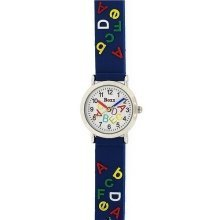 Boxx Analogue Alphabet ABC Blue Strap Kids Watch F1545