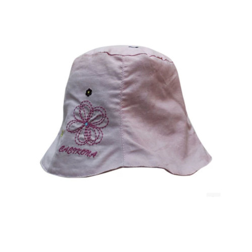 Floppy Sun Protection Bucket Hat For Baby Girls White