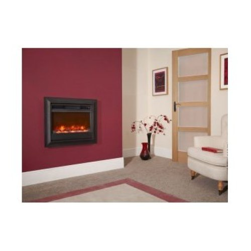 Designer Fire Electric - Celsi Oxford Black Wall Mounted Electricflame 22''