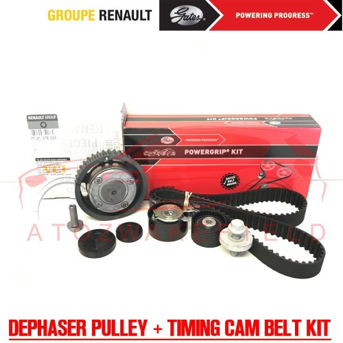 FOR RENAULT CLIO 1.6 16v GENUINE CAMSHAFT DEPHASER PULLEY TIMING CAM BELT KIT