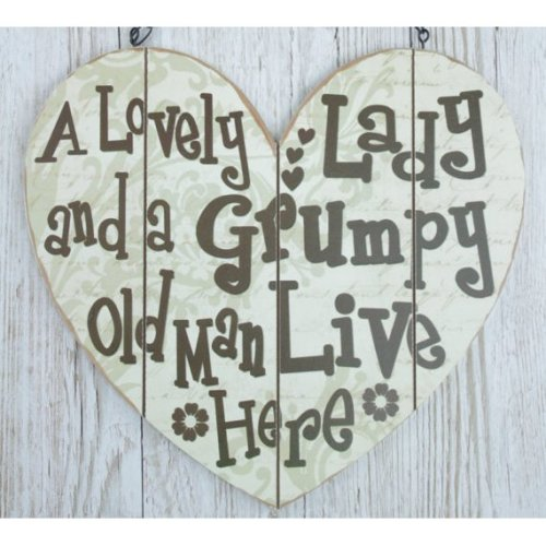 Heart Wall Plaque A Lovely Lady & A Grumpy Old Man SG1907A